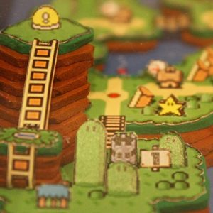 3D Super Mario World Papercraft