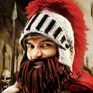Bearded Barbarian Knight Hat