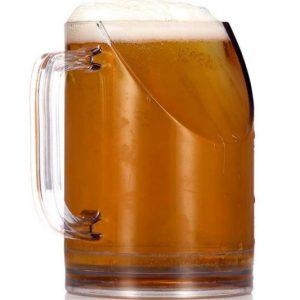 Better TV Viewing Angle Beer Mug
