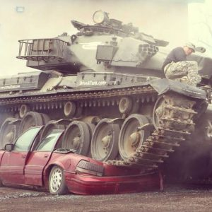 Car Crushing Tank Experience