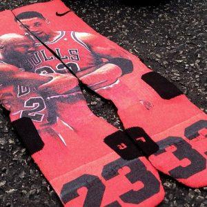 Chicago Bulls Flu Game Socks
