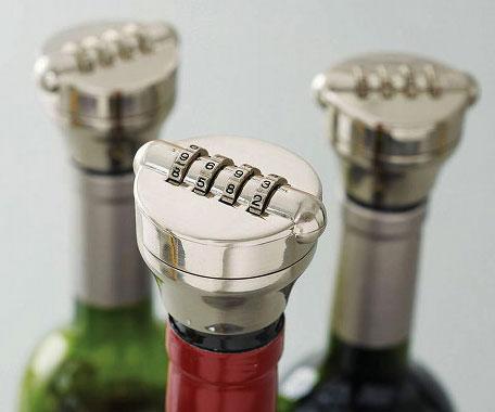 Combination Wine Bottle Lock Interwebs