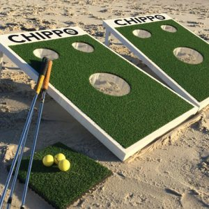 Cornhole/Mini-Golf Hybrid Game