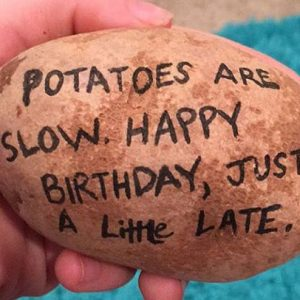 Custom Message Potato Parcel