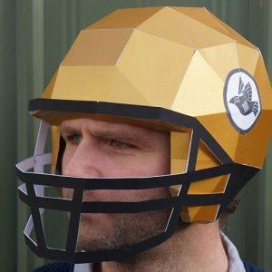 DIY Football Paper Helmets