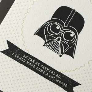 Darth Vader Father's Day Card