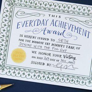 Everyday Achievement Certificates