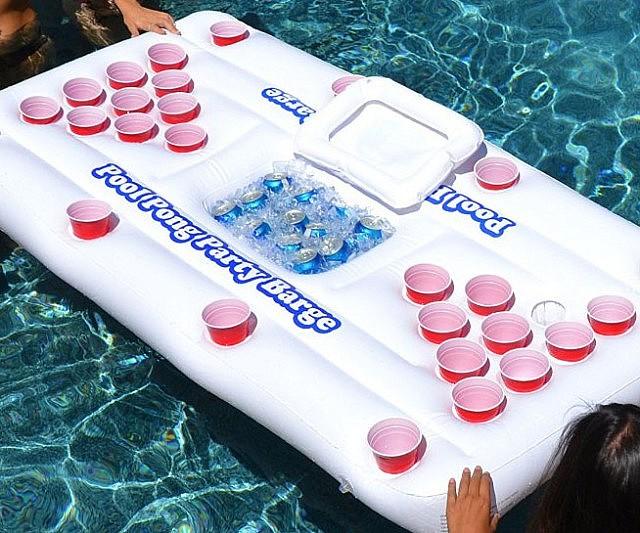 Floating Beer Pong Raft Interwebs