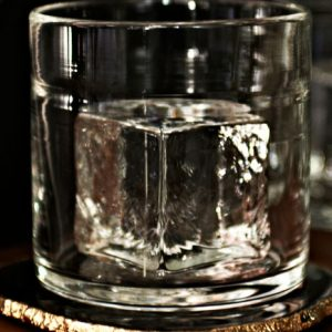 Glass Ice Cube Whiskey Glass