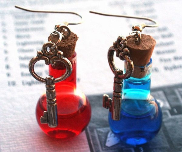 Health And Mana Potion Earrings