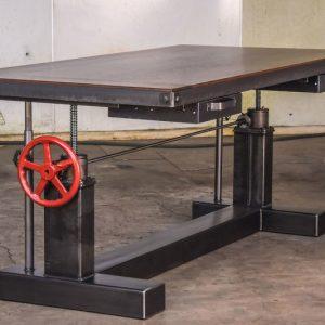Height Adjustable Crank Desk