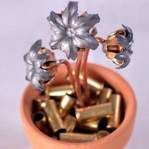 Hollow Point Bullets Flower Pot