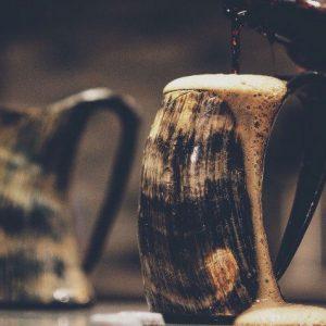 Horn Beer Mug
