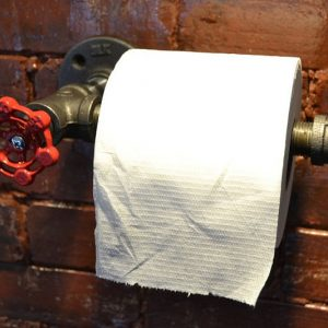 Industrial Pipe Toilet Paper Holder