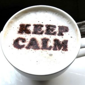Keep Calm Coffee Stencil