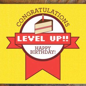 Level Up Gamer Birthday Card