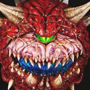 Light Up Doom Cacodemon Sculpture