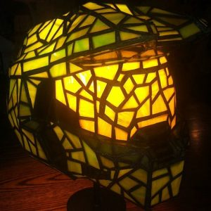 Master Chief Stained Glass Lamp