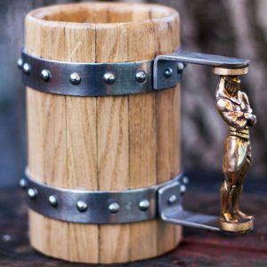 Medieval Oak Mugs