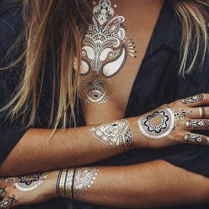 Metallic Henna Tattoos