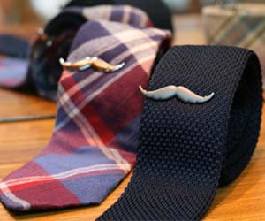 Mustache Tie Clip