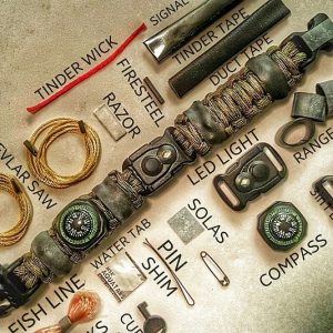Paracord Bracelet Survival Kit