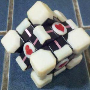 Portal Companion Cube Rubiks Cube