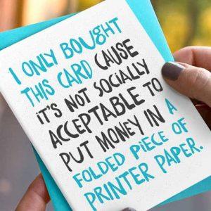 Printer Paper Birthday Card