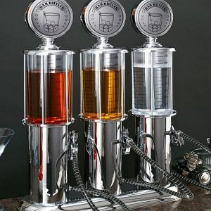 Retro Gas Pump Liquor Dispensers