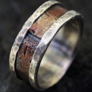 Rustic Men's Wedding Ring