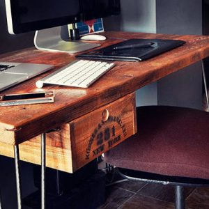 Rustic Reclaimed Wood Desk