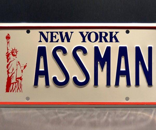 Seinfeld Kramer's Ass Man License Plate