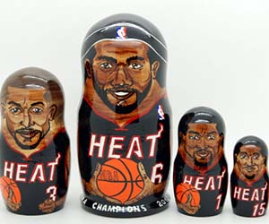 Sports Teams Nesting Dolls