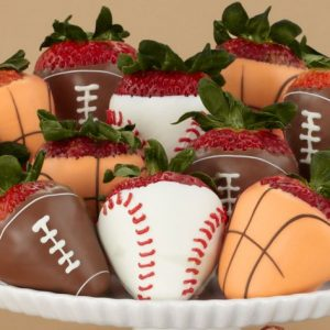 Sports Themed Strawberries