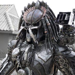 Steampunk Predator Statue