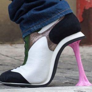 Stuck Chewing Gum High Heels