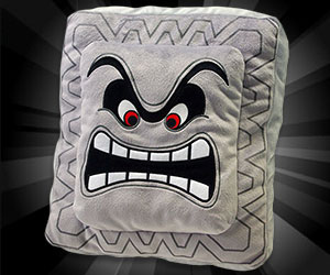 Super Mario Bros Thwomp Pillow