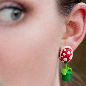 Super Mario Piranha Plant Earrings