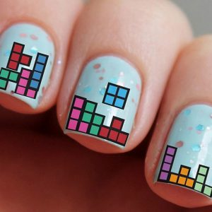 Tetris Water Nail Decals