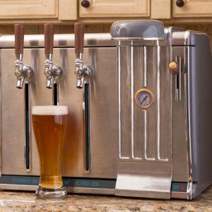 Triple Chamber Beer Growler Tap