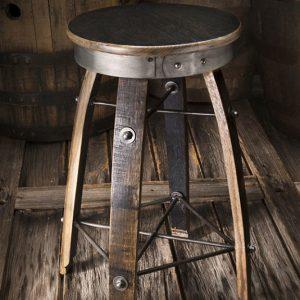 Whiskey Wood Swivel Bar Stool