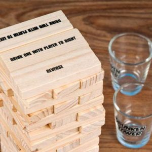 Wooden Stacking Blocks Drinking Game