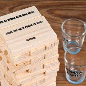 Wooden Stacking Blocks Drinking Game