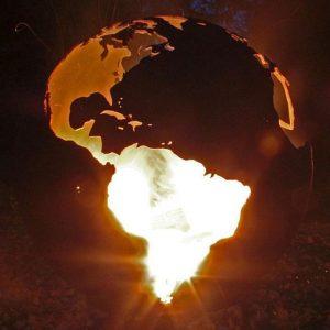 World Globe Fire Pit