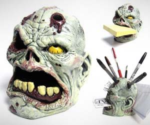 Zombie Head Desk Organizer