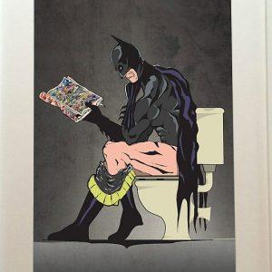 Batman On The Toilet