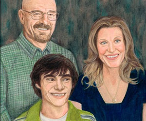 Breaking Bad White Family Portrait