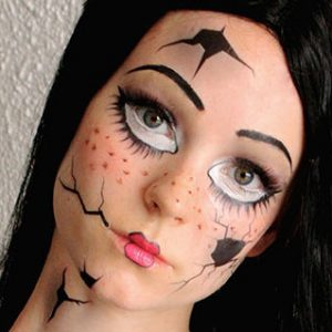 Broken Doll Costume Temporary Tattoos