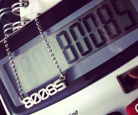 Calculator Boobs Necklace