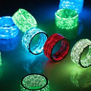 Carbon Fiber Glow In The Dark Rings